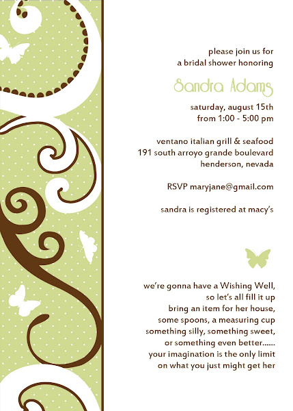 Modern Butterfly Bridal Shower Invitation