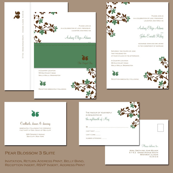 The Perfect Pair Wedding Invitation Suite