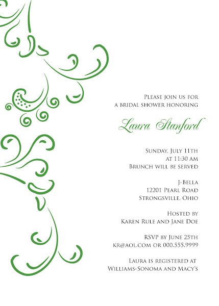 Modern Belle Bridal Shower Invitation