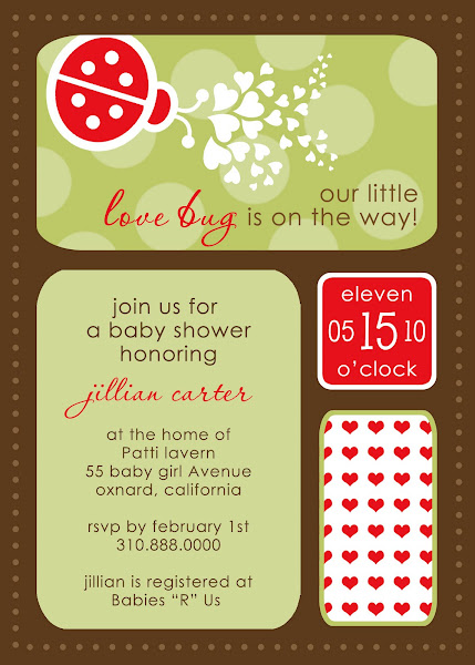 Love Bug Baby Shower Invitation