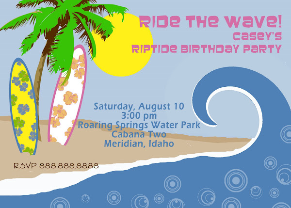Riptide Birthday Invitation