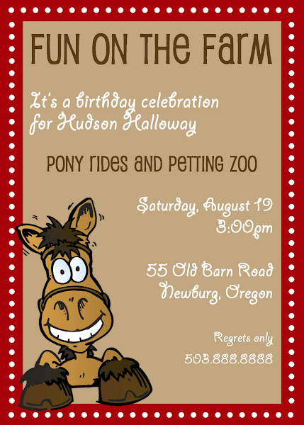 Fun on the Farm Birthday Invitation