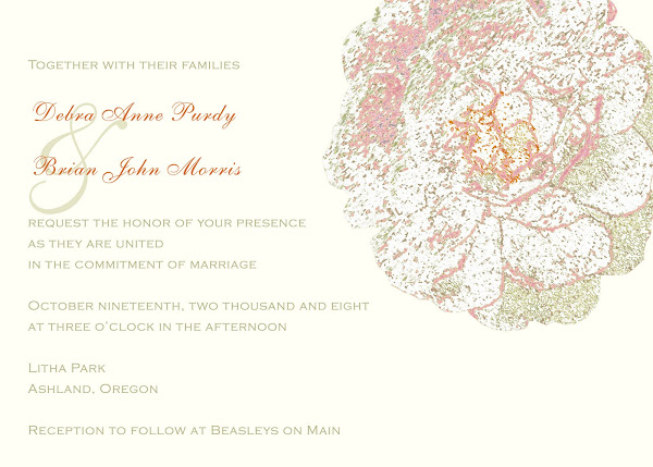 Peony Romance Wedding Invitation