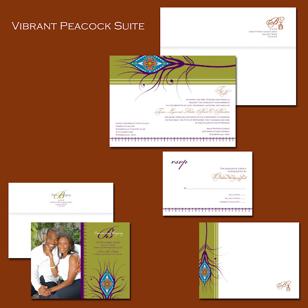 Vibrant Peacock Quill Suite