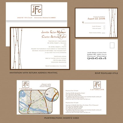 Lotus Charm Wedding Invitation Suite