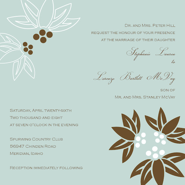 Mint Julep Wedding Invitation