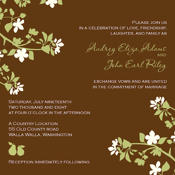 Pear Blossom I Wedding Invitation