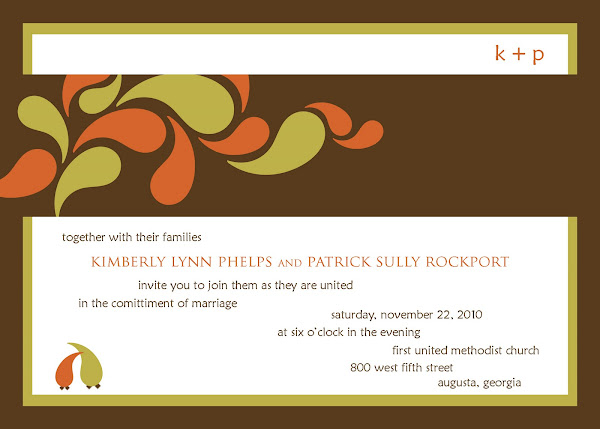 Partridge Fall Wedding Invitation