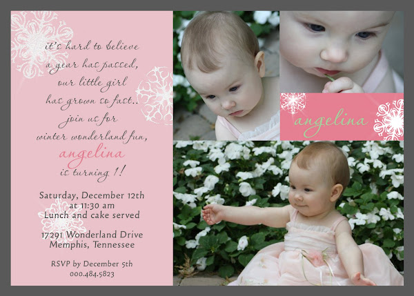 Sugar Plum Dreams Birthday Invitation