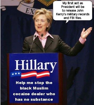 Hillary Clinton announces John Kerry payback