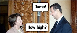 Assad says jump, Pelosi asks how high