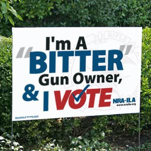 I am a bitter gun owner and I vote