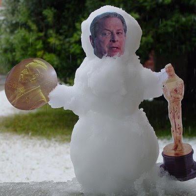 Al Gore snowman