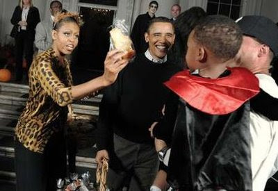 Micheele and Barack Obama Halloween 2009 party