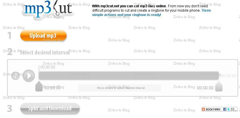 Couper ses mp3 en ligne 3 solutions zinfosweb - Couper morceau mp3 en ligne ...