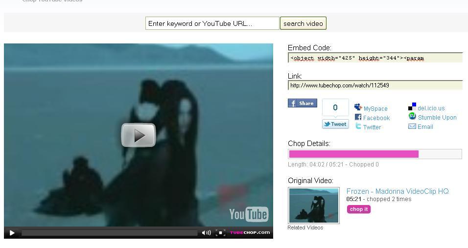 Couper les vid os de youtube en ligne zinfosweb - Couper des videos en ligne ...