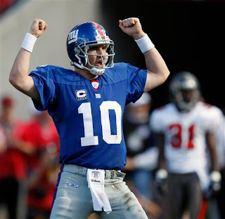Eli Manning broke through and got his first playoff win