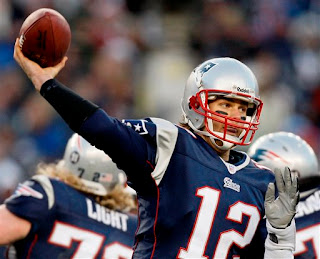 The Patriots won despite 3 interceptions by Tom Brady