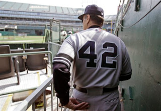 Yankees manager Joe Torre wore 42