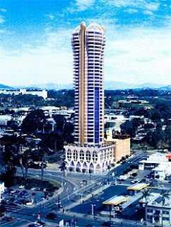 An artist's rendering of the giant cock planned for downtown San Diego