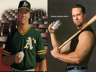 Mark McGwire certainly looks -- uh healthier