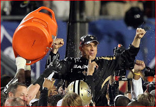 to the victor go the Gatorade bath