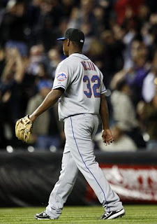 Jenrry Mejia walks off the field after allowing a game-losing home run to Chris Ianetta, hopefully the disappointment of allowing a game losing home run in the first two weeks of the season won't adversely affect his confidence
