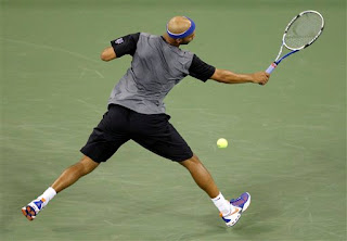the best picture I could find of James Blake sporting Mets gear at the U.S. Open