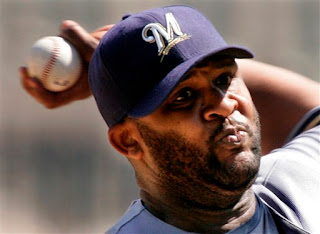 CC Sabathia throws a fastball