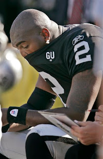 Jamarcus Russell went 6 for 19 for 31 yards