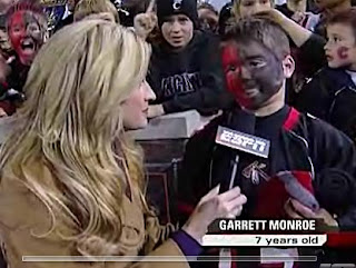 Garrett Monroe gets interviewed by Erin Andrews