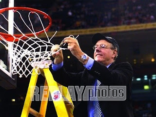 Jim Boeheim cuts down the net