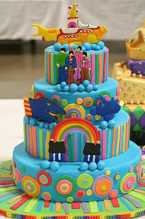 The Beatles Yellow Submarine Cake