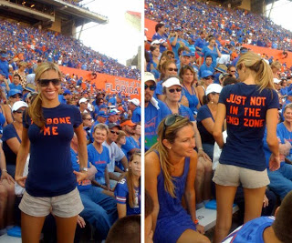 Despite what the shirt says I bet she would take it in the ass if Tebow asked for it