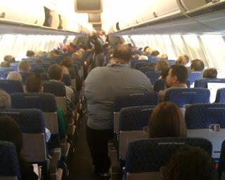 obese airline passenger