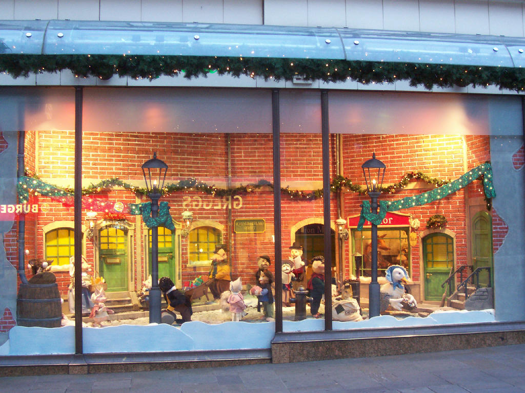 Photographs of newcastle fenwicks window 2007 for Shop xmas decorations