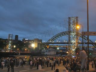 Bamboo Bridge over the Tyne for the SummerTyne festival