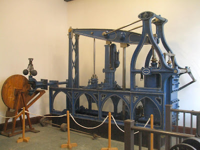 One of the beam engines which powered the machinery in South Street Works. Built in 1823