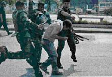 Estudiante golpeado por los esbirros del dictador