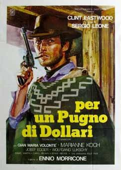 Cartel original de la película Por un puñado de dolares