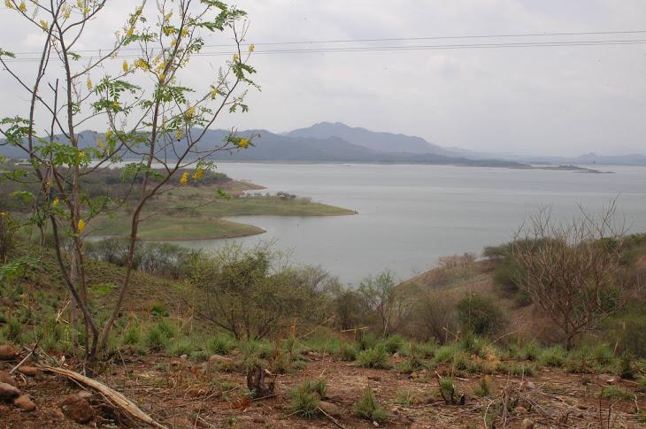 Vista panorámica de la Presa Sanalona