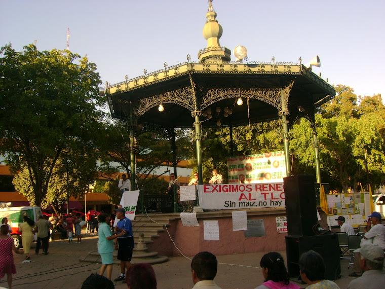 Bailando en la Plaza Àlvaro Obregòn