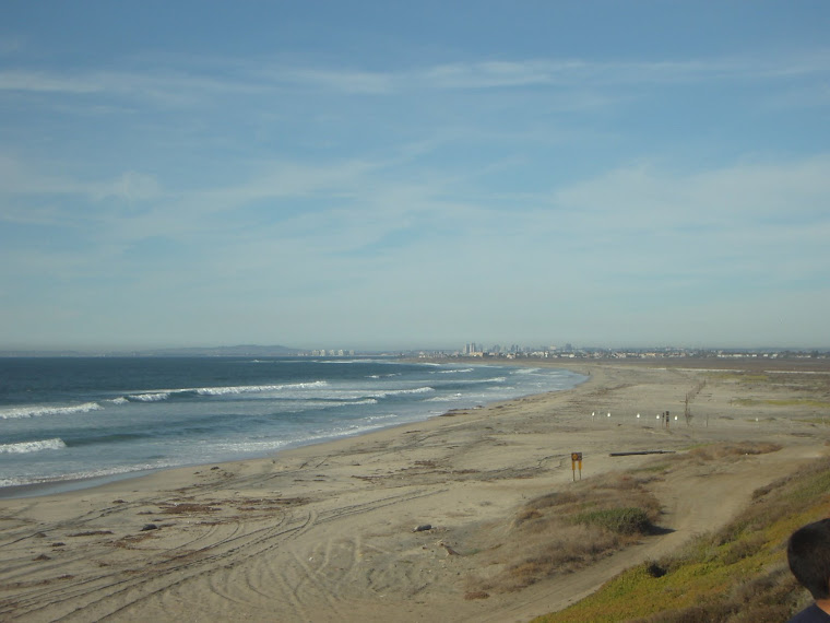 San Diego desde la frontera con Tijuana Baja California