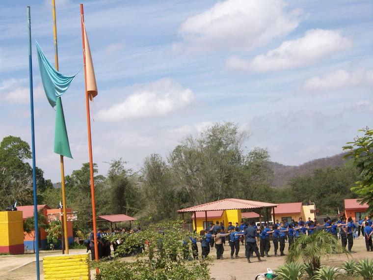 Campamento de la organizacion Amigos del Ejército