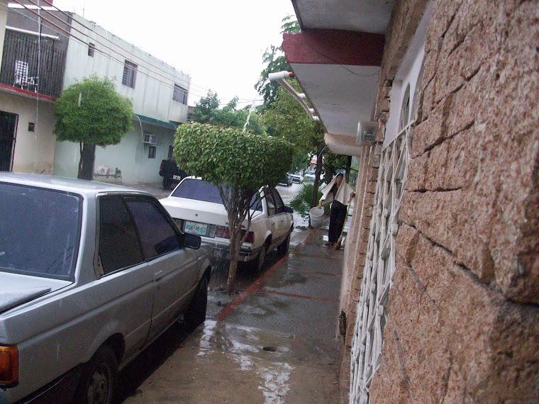 Día lluvioso en mi barrio