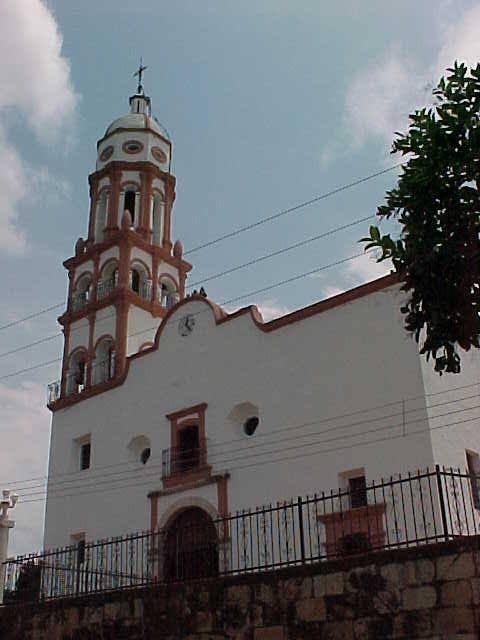 Otra estampa de la iglesia de Santa Ursula en el pueblo magíco de Cosalá