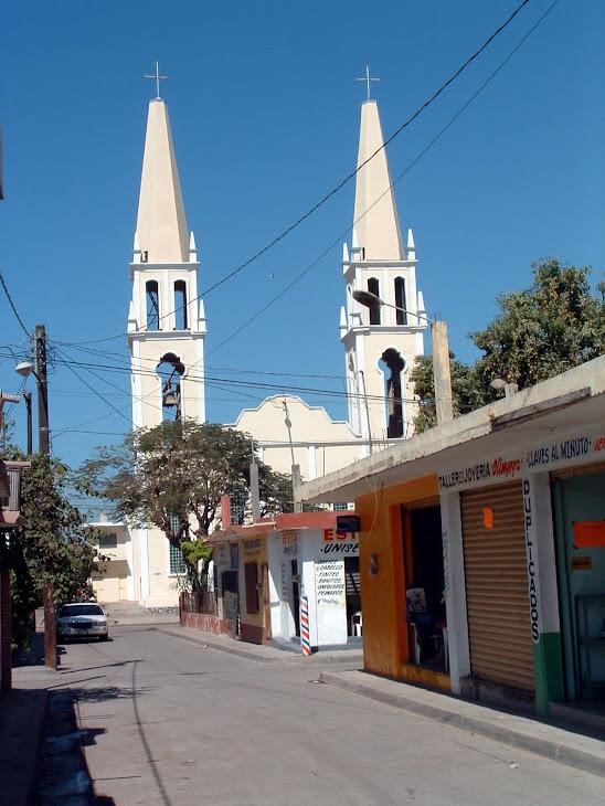 Una calle de la ciudad de Costa Rica, Municipio de Culiacán