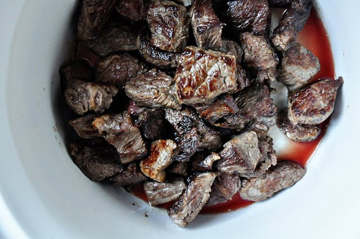 Begin By Browning 3 4 Pounds Of Beef Chuck Stew Meat That Has Been Cut Into Bite Sized Chunks To Do This Dry The Beef With Paper Towels Season