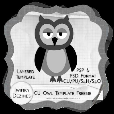 http://twinkydezines.blogspot.com/2009/10/cu-owl-template-freebie.html
