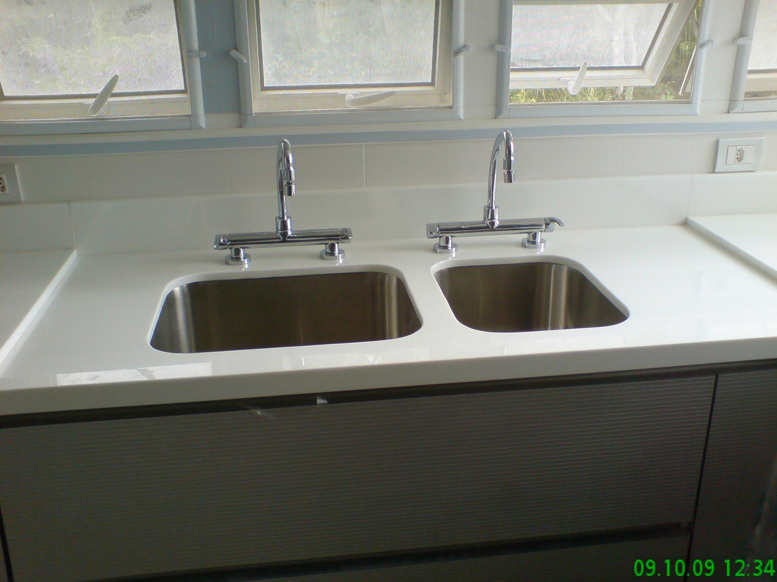 Bancada de Cozinha em Nanoglass (Marmoglass) Cuba Dupla e parte seca #0F7112 1600x1200 Bancada Banheiro Marmoglass